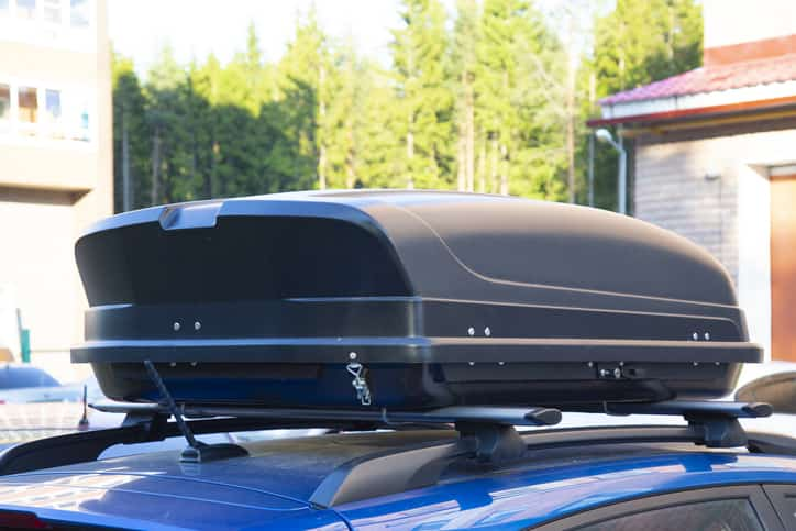a Roof Cargo Box in the top of a Vehicle