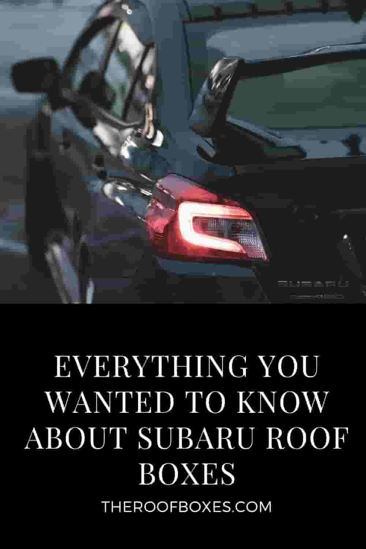 Subaru roof box – Reviews and Comparison